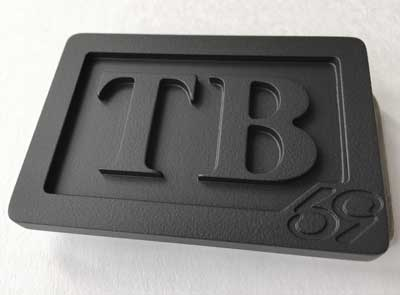 custom personalized initials belt buckle - murdered out