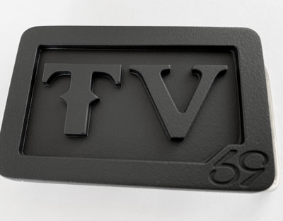 custom personalized tv 2 initials belt buckle - murdered out
