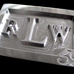 Stainless Steel Custom Monogram Initials Belt Buckle – Font Option 9