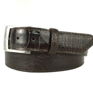 genuine brown ostrich Leg belt strap