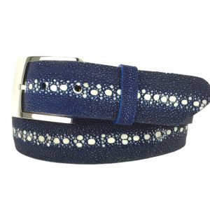 genuine full spine stingray belt strap blue
