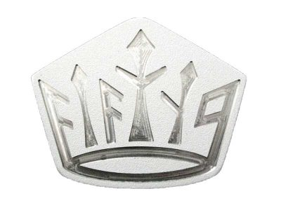 white fifty nine crown golf belt buckle