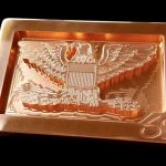 Free Bird Custom Copper Belt Buckle