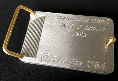 traditional bar style belt buckle
