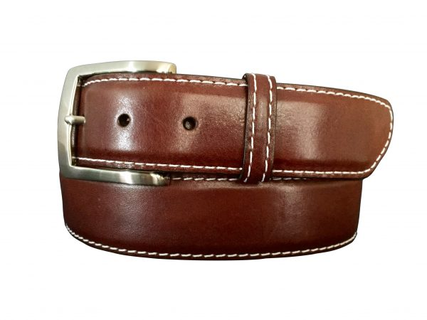 smooth light brown italian skin belt strap