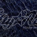 Navy Italian Calfskin Leather Sample