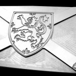 lion rampant scottish stainless steel belt buckle
