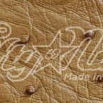 Genuine Saddle Ostrich Quill Exotic Belt Swatch Sample