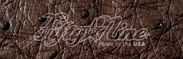 genuine brown ostrich quill exotic sample image