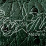 Genuine Green Ostrich Quill Exotic Belt Swatch Sample