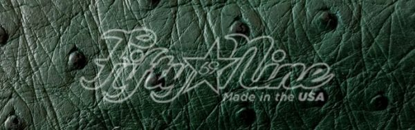 genuine green ostrich quill exotic sample image