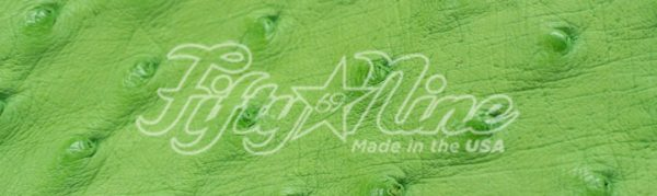 genuine lime ostrich quill exotic sample image