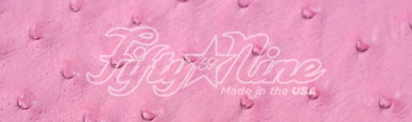 genuine pink ostrich quill exotic sample image