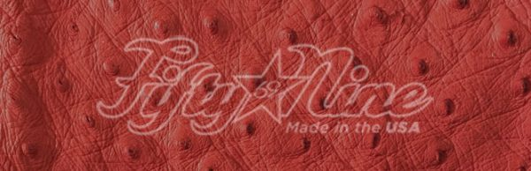 genuine red ostrich quill exotic sample image