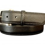 Pebble Black Calfskin Belt Strap