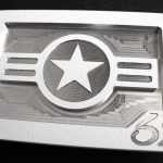 US Airforce America Belt Buckle – White