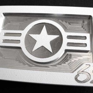 white us airforce america belt buckle