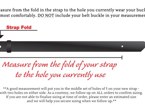 traditional fit belt sizing instructions