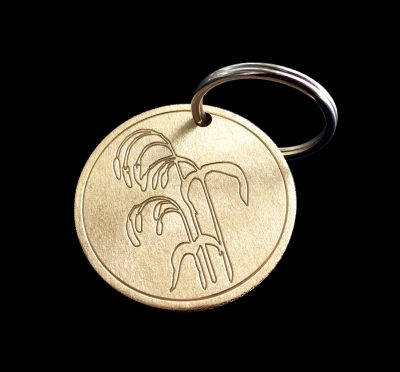 custom rice planters tournament brass ball mark / keyring