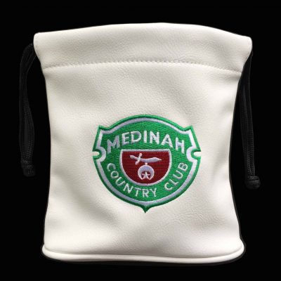 custom event valuables/belt bag - medinah golf club logo