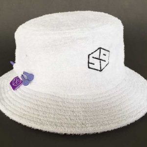 tee keeper terry cloth bucket hat - white