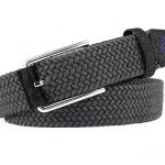 Pure Camaraderie Braided Stretch Golf Belt – Grey