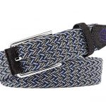 Pure Challenge Braided Stretch Golf Belt – Blue/Grey