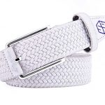 Pure Escape Braided Stretch Golf Belt – White
