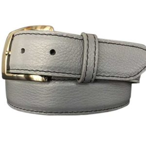 grey pebble calfskin belt strap