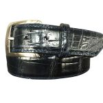genuine gloss american alligator belt strap - navy