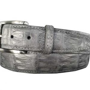 genuine caiman crocodile belt strap - grey