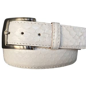 white anaconda snake belt strap and buckle