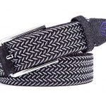 pure competition braided stretch golf belt - black/white