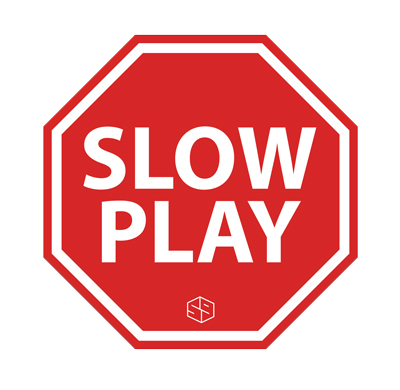 stop slow play golf t-shirt