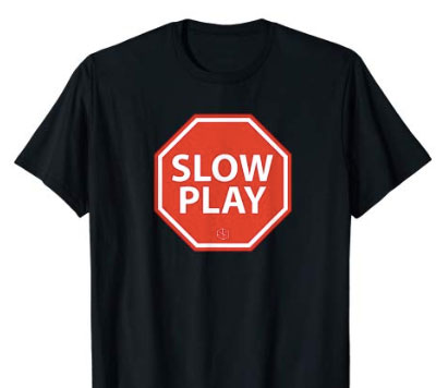 stop slow play golf t-shirt - black