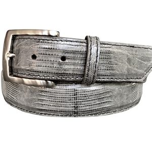 Grey Lizard Skin Belt - 1-1/2""
